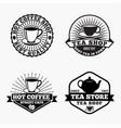 tea-coffee logos badges vector image vector image