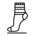 textile sock icon outline style vector image