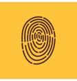 The fingerprint icon ID symbol Flat vector image vector image