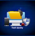 theft identity computer digital technology virus vector image vector image