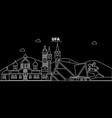 ufa silhouette skyline russia - ufa city vector image vector image