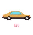 vintage 90s car isolated icon retro vehicle vector image vector image