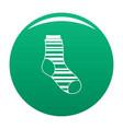warm sock icon green vector image vector image