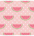 watermelon seamless pattern with polka dot vector image vector image