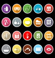 Wellness icons with long shadow vector image