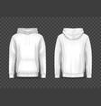 white men 3d hoodie or hoody sweatshirt jacket vector image vector image