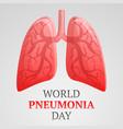 world pneumonia day concept background cartoon vector image vector image