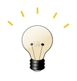 Cartoon lamp icon vector image