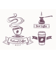 Coffee shop and design elements vector image