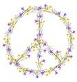 Flower power peace symbol vector image