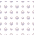 Seamless pattern with pearls vector image