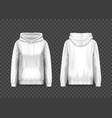 3d woman pullover hoodie or hoody sweatshirt vector image