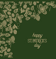 abstract floral st patricks day poster vector image vector image