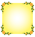 An empty template with a flowering plant border vector image vector image