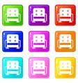 armchair set 9 vector image vector image
