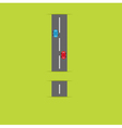 Background with road in shape of exclamation mark vector image vector image