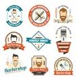 barber shop sign vector image vector image