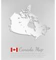 Canada map 3D map with smooth shadow vector image