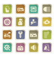 car shop icons set vector image vector image