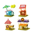 Cart Stall and Ice Cream vector image vector image