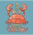 cartoon angry crab vector image