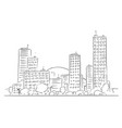 cartoon drawing of cityscape from modern city vector image