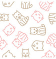 cat and dog outline seamless pattern vector image vector image