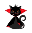 cat vampire in dracula carnival costume vector image