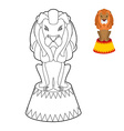 Circus lion coloring book Big Serious animal in vector image vector image