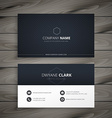 Clean dark business card vector image