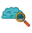 cloud computing connection isolated icon design vector image