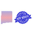 composition of gradiented dotted map of new mexico vector image vector image