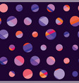 concept modern polka dot seamless pattern surface vector image vector image
