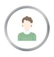 Curly boy icon cartoon Single avatarpeaople icon vector image vector image