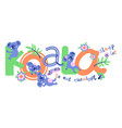 cute koalas five color print for kids vector image