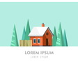Family House Winter Home vector image
