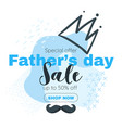 father day banner sale template vector image
