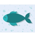 fish icon Sea animal cartoon graphic vector image