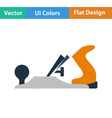 Flat design icon of jack-plane vector image vector image