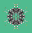 flat design with abstract snowflakes isolated on vector image vector image