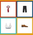 flat icon dress set of brasserie pants cravat vector image