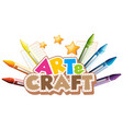 font design for word art and craft with colorful vector image