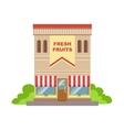 Fruit Shop Commercial Building Facade Design vector image vector image