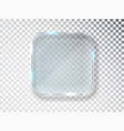 glass frame isolated on transparent vector image vector image