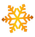 gold snowflake icon realistic style vector image vector image