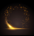 golden sparkle ring background vector image vector image