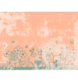 Grunge Peach Floral Background vector image vector image