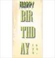 Happy birthday retro background vector image vector image