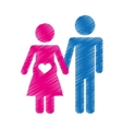 happy couple icon vector image vector image