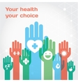 Healthy lifestyle flat vector image vector image